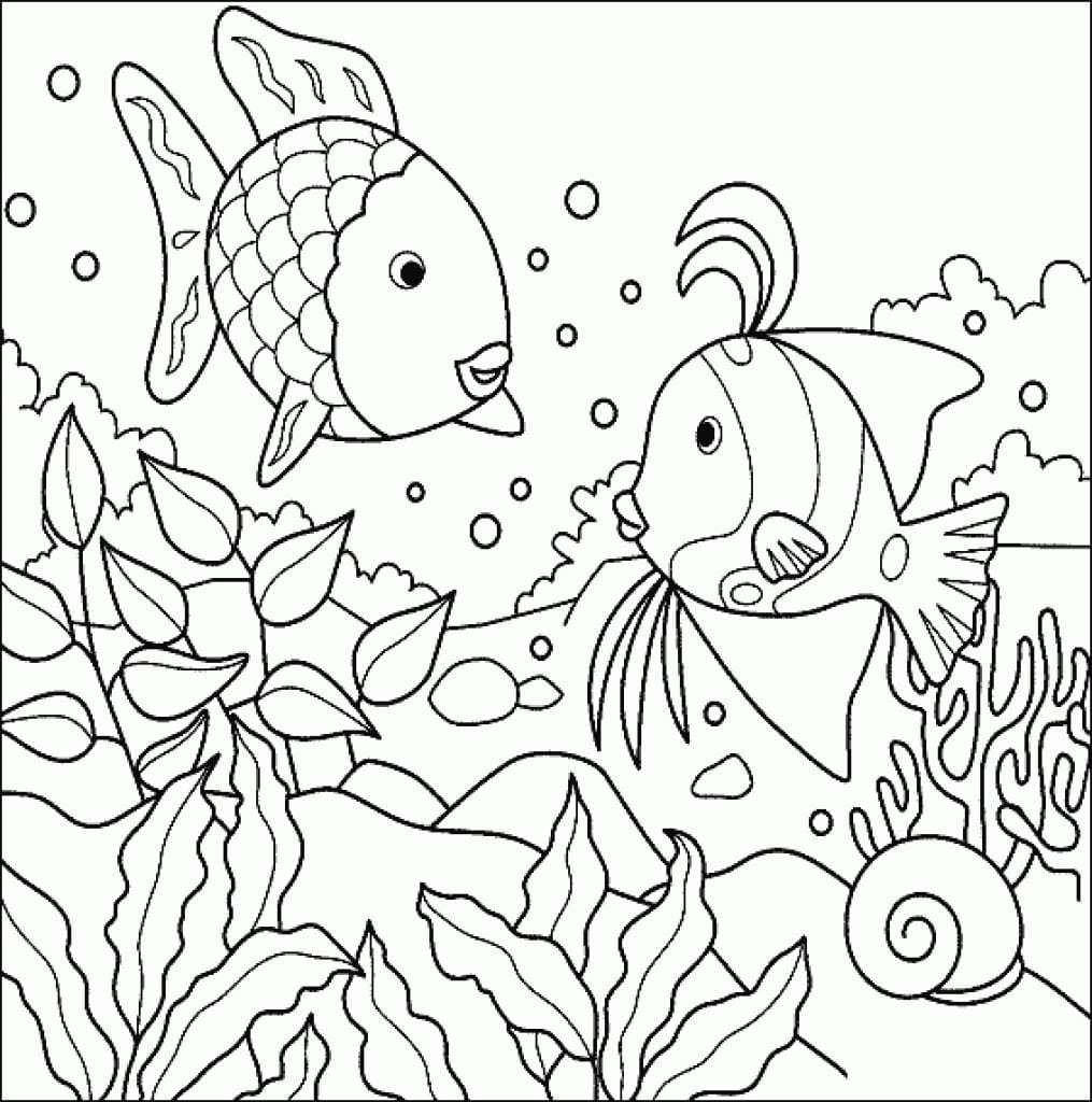 Underwater Coloring Pages 7808 At