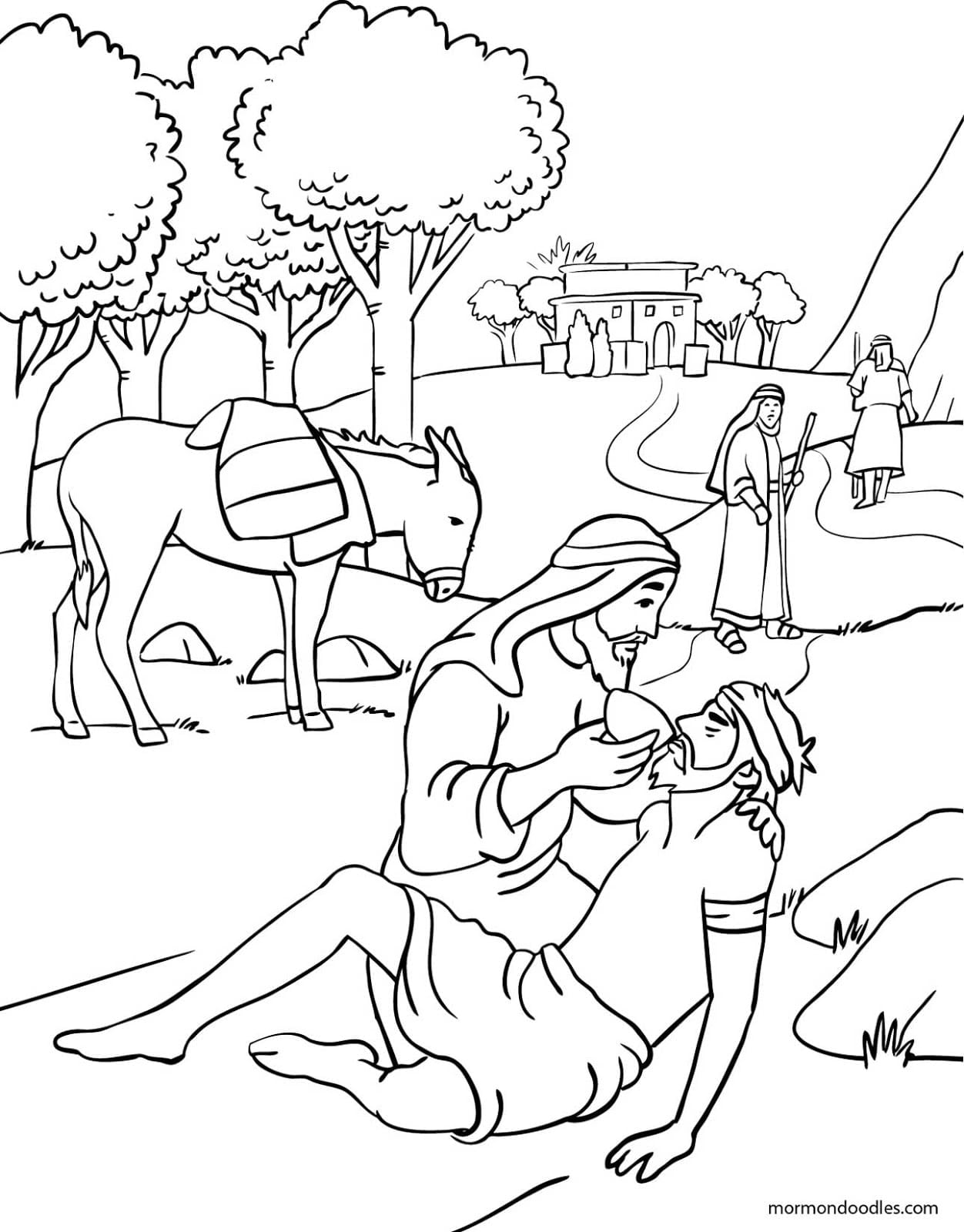 Unique Good Samaritan Coloring Page 43 In Picture With For