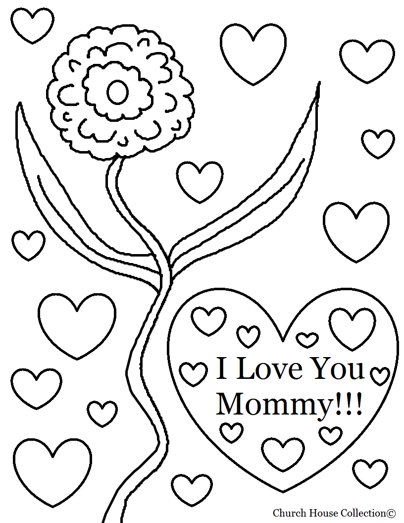 Unlock I Love My Mom Coloring Pages You Mommy  15184