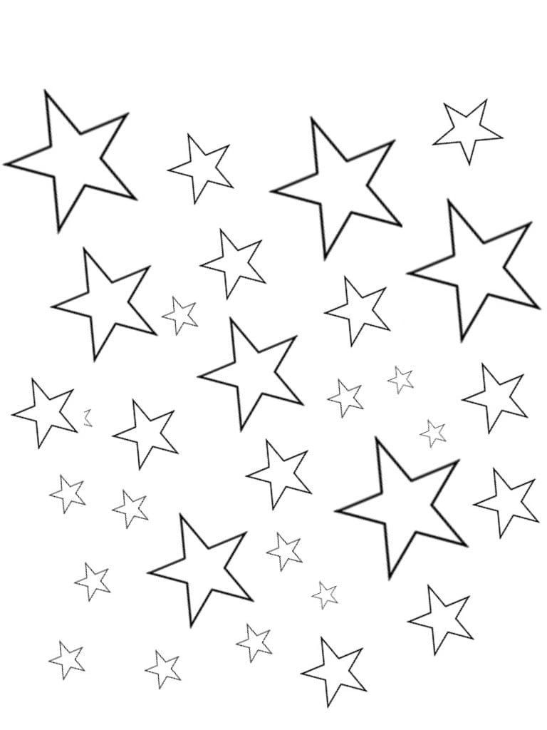 Good Star Coloring Page Printable About Star Coloring Page On With
