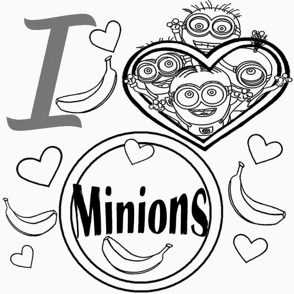 Yjinjj From Minion Color Pages On With Hd Resolution 1000x1000