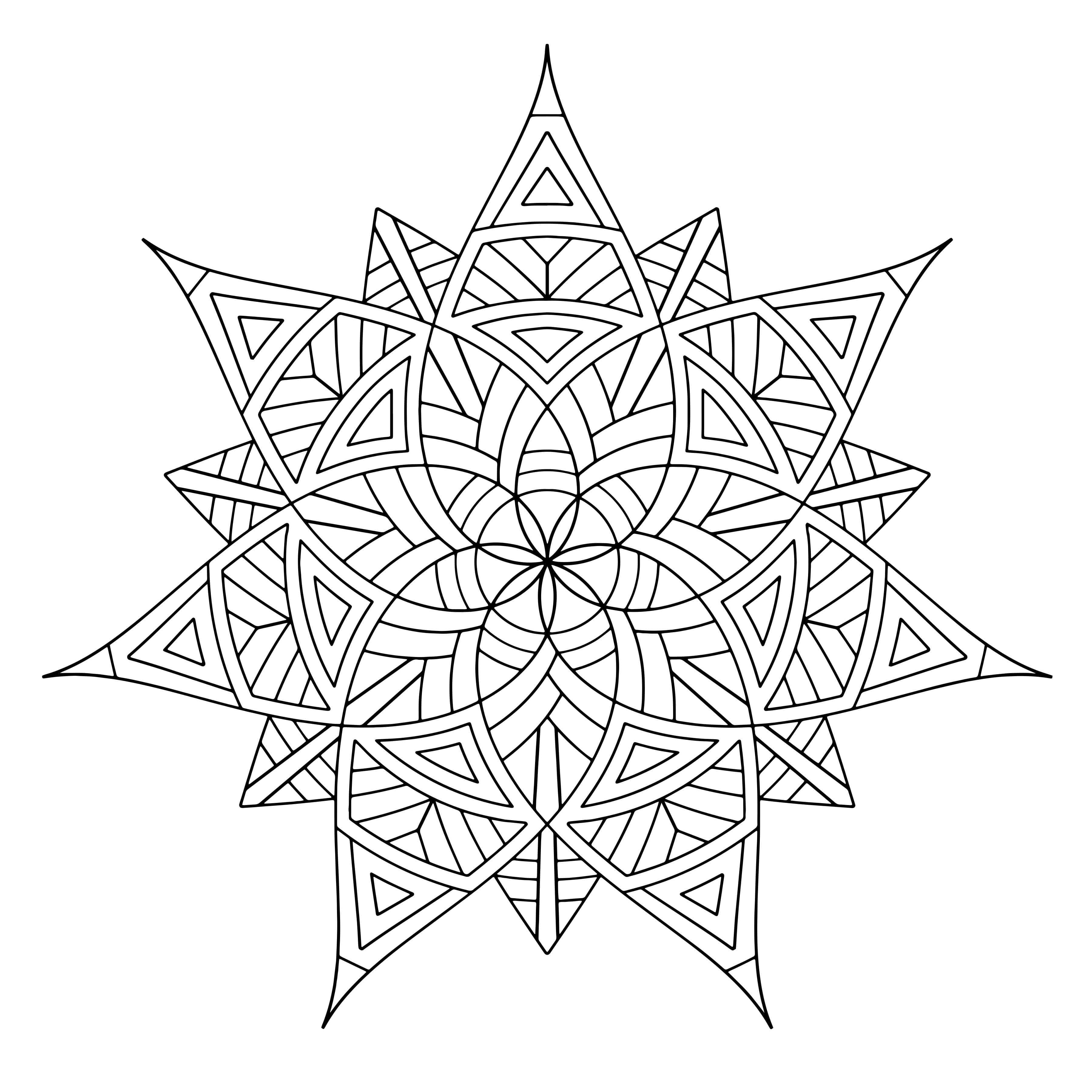 Unthinkable Geometric Coloring Pages For Adults Free Printable