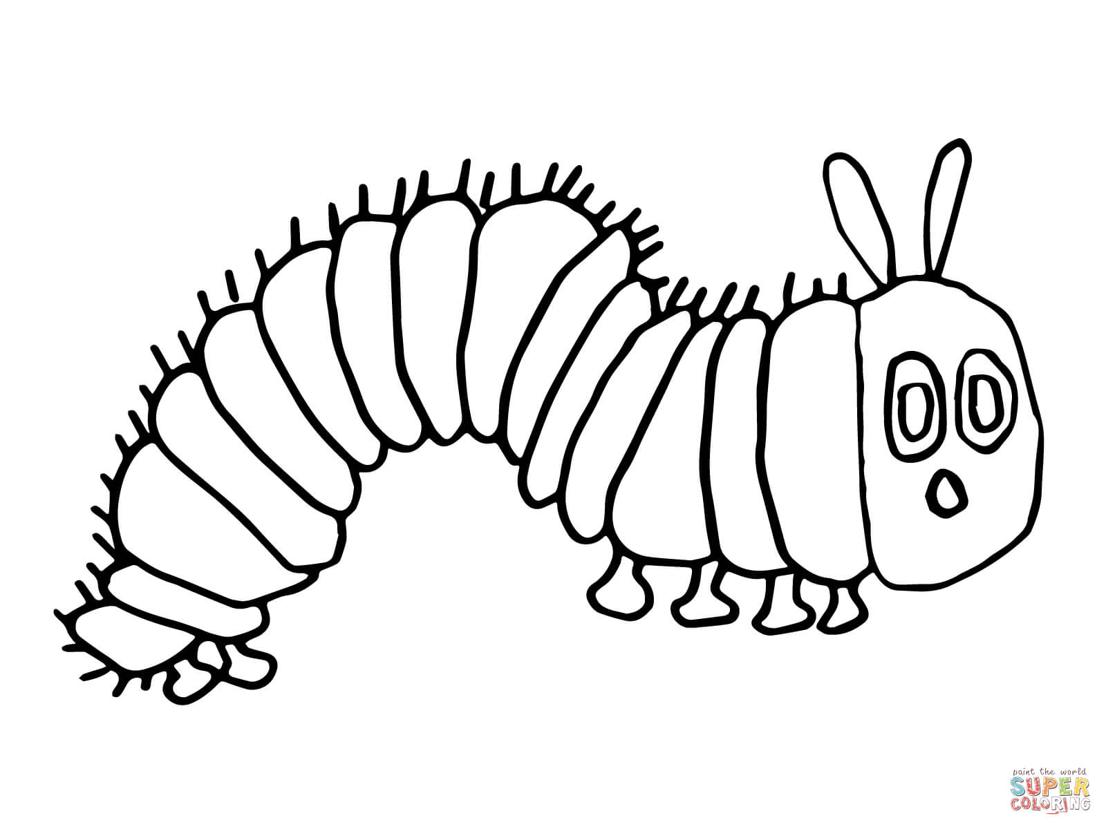 Trend Caterpillar Picture To Color Coloring Sh  12381
