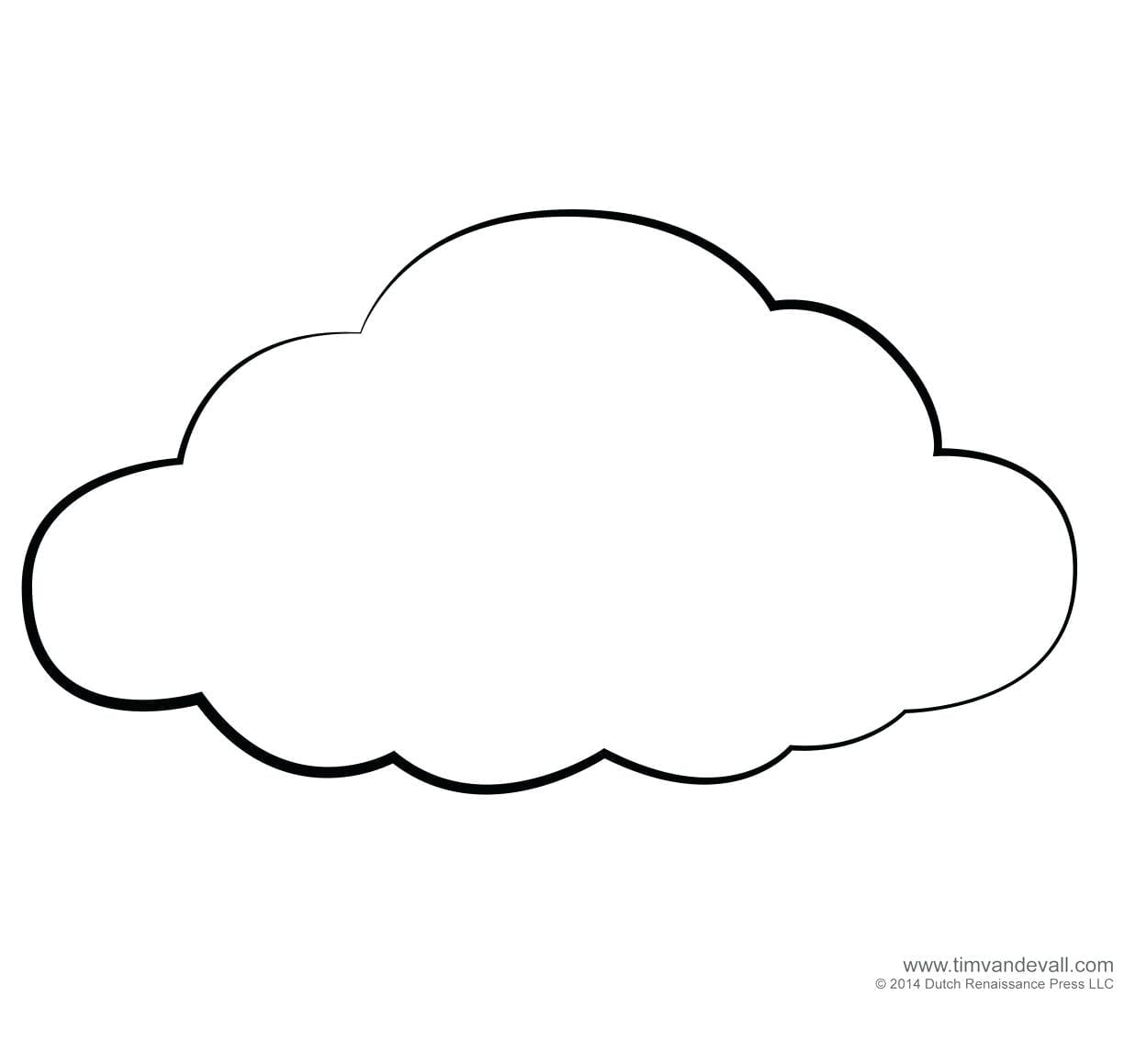 Coloring Pages Of Clouds  8636