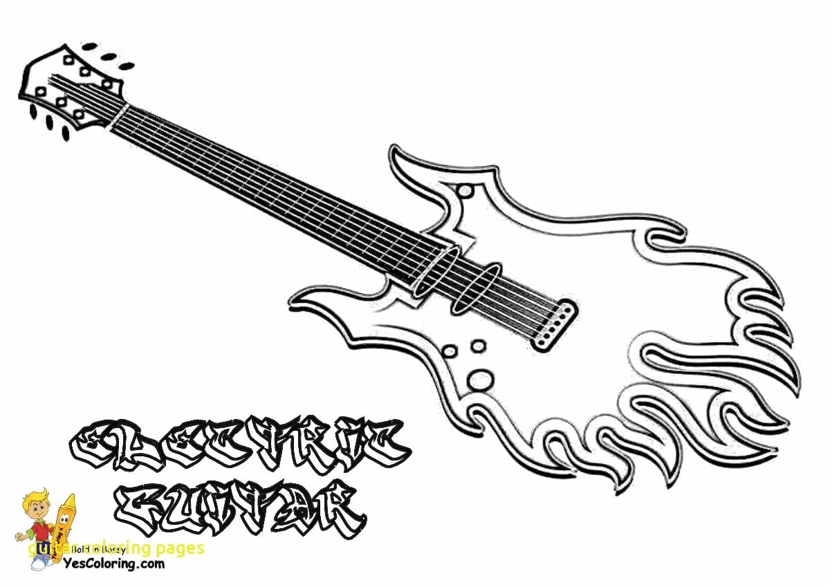 Urgent Guitar Colouring Pages Coloring Connect  22693
