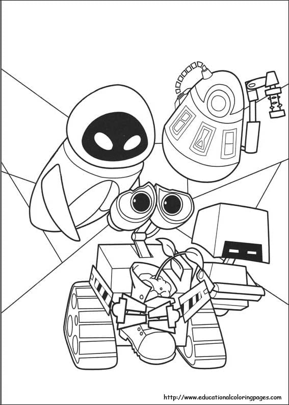 Wall E Coloring Pages 5  8653