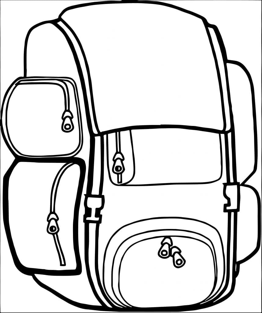 Backpack Coloring Page  3145