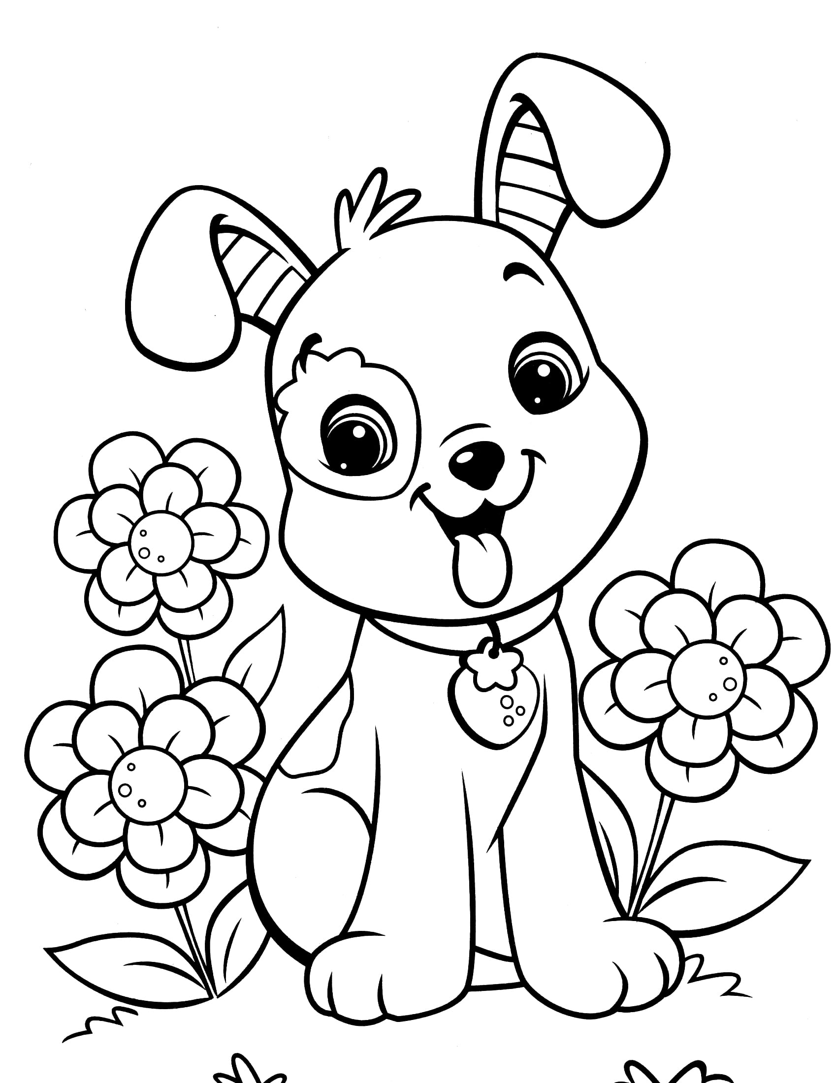 Guaranteed Puppy Colouring Sheets Cute Pages 12020  3607