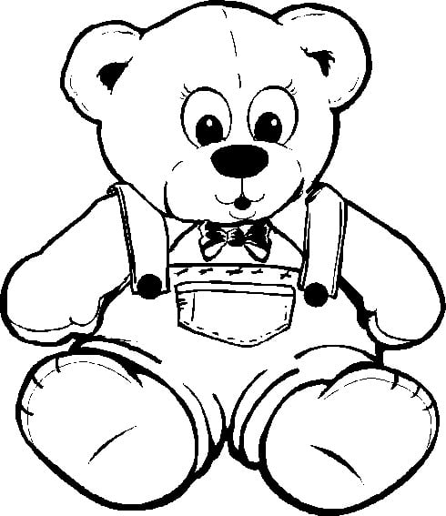 Winsome Teddy Bear Coloring Pictures Printable In Fancy Free