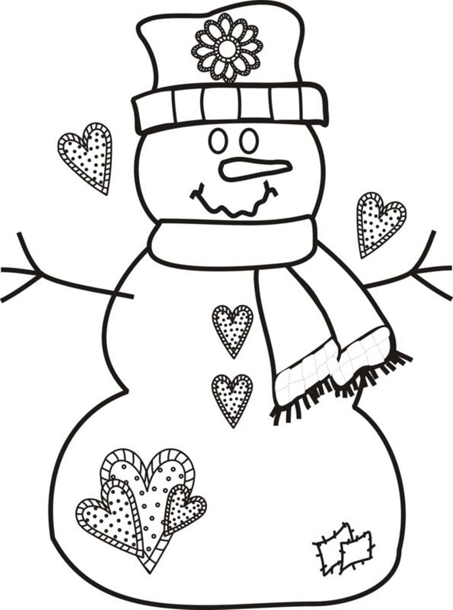 Wonderful Coloring Pages Of Snowmen 24 8286 With Snowman Printable
