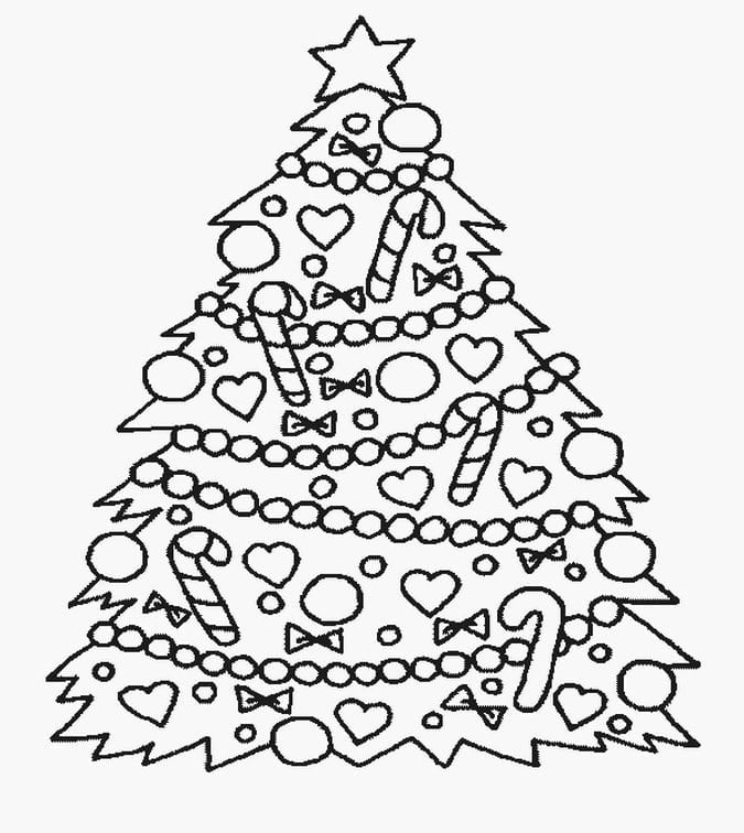Worksheets Christmas Tree Coloring Page Worksheets For All