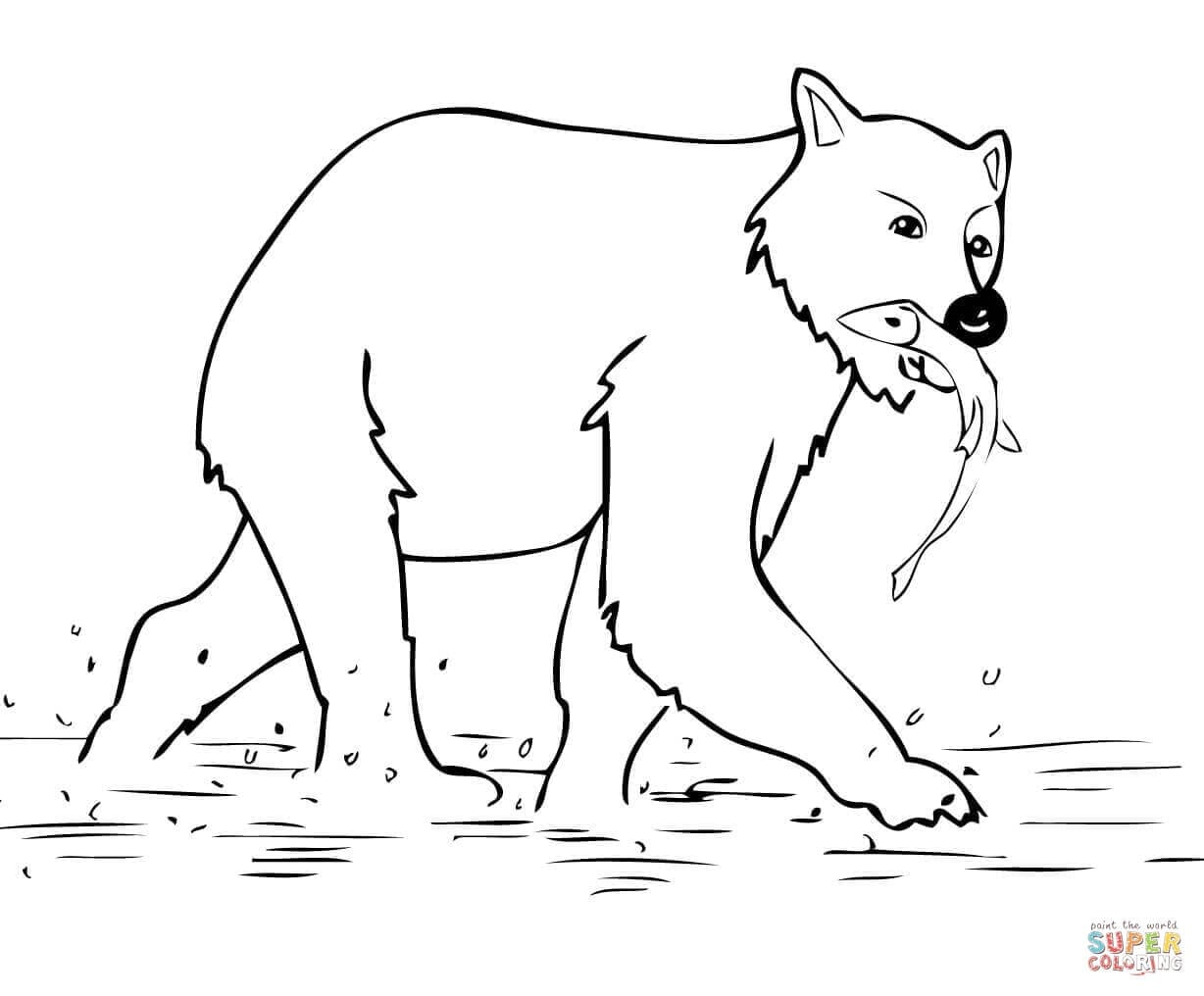 Brown Bears Coloring Pages