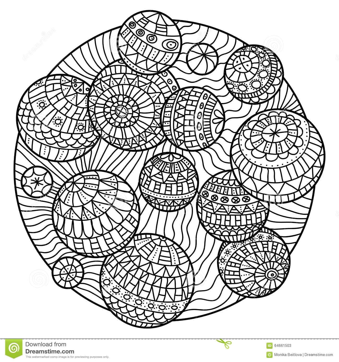 Zentangle Coloring Book Stock Vector Image Of Ball On Hand Drawn