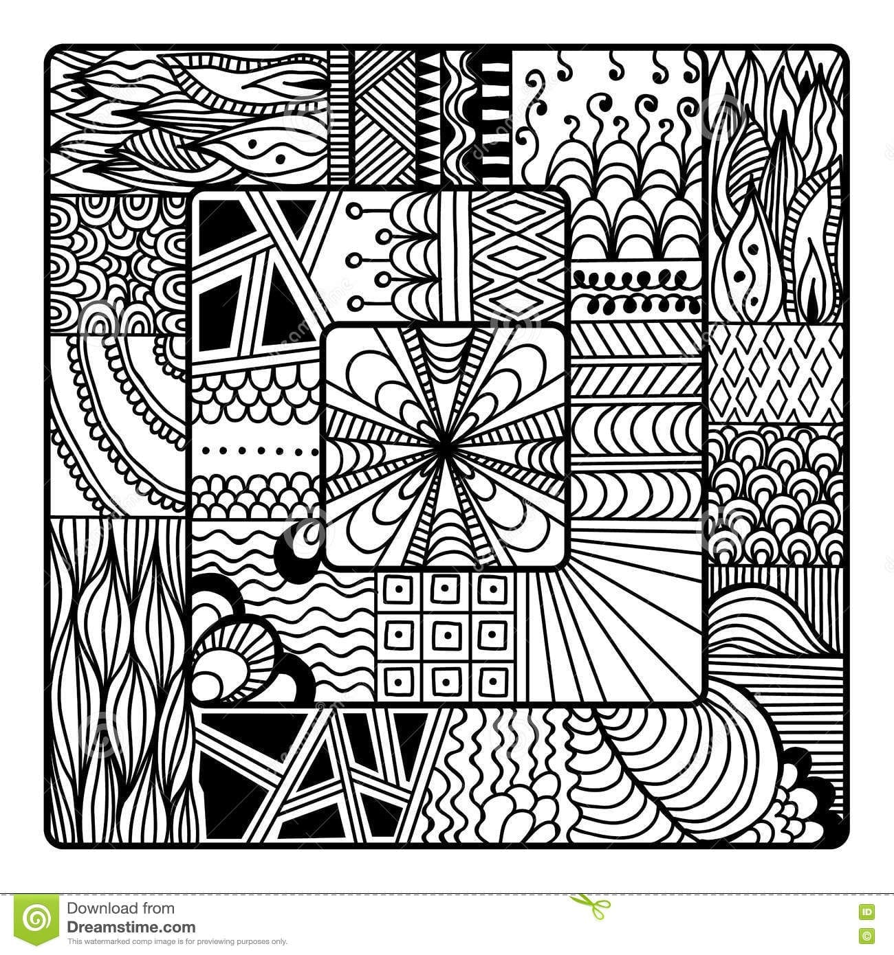 Zentangle Vector For Coloring Book Doodle Mandala Stock V On