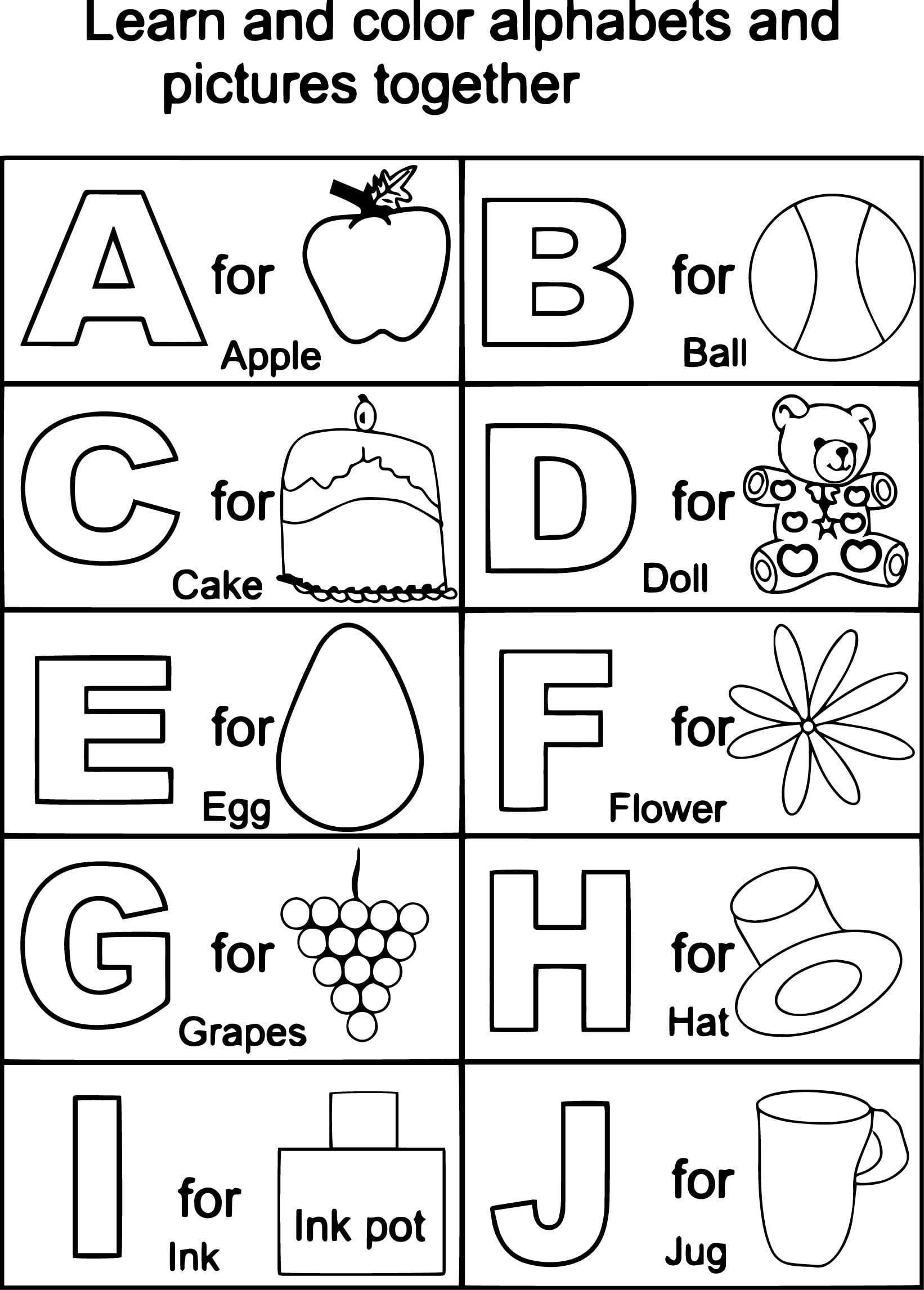 Abc Coloring Pages Free Printable 848683