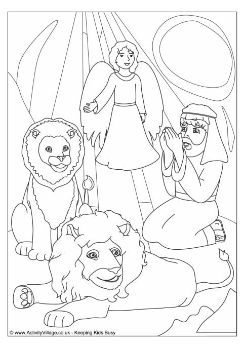 Daniel In The Lions Den Coloring Page In The Lions Den Colouring