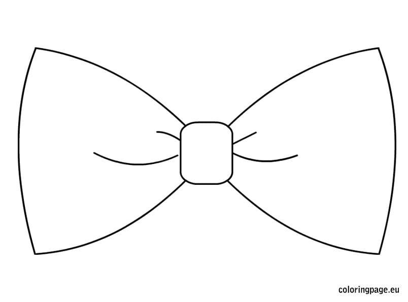 Bow Coloring Page Cute Bow Coloring Page