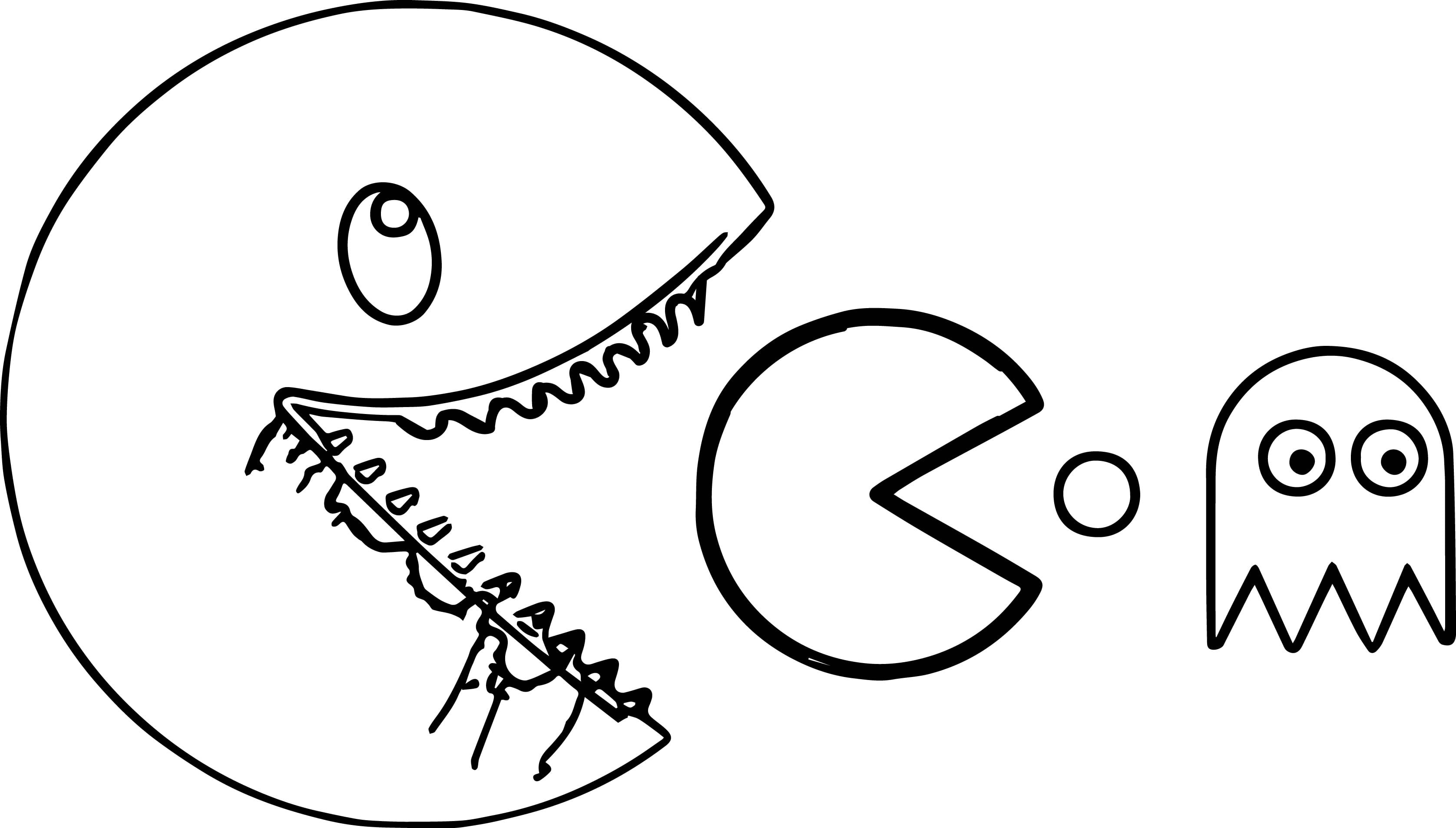 Breakthrough Pac Man Coloring Pages To Print Pacman Printable