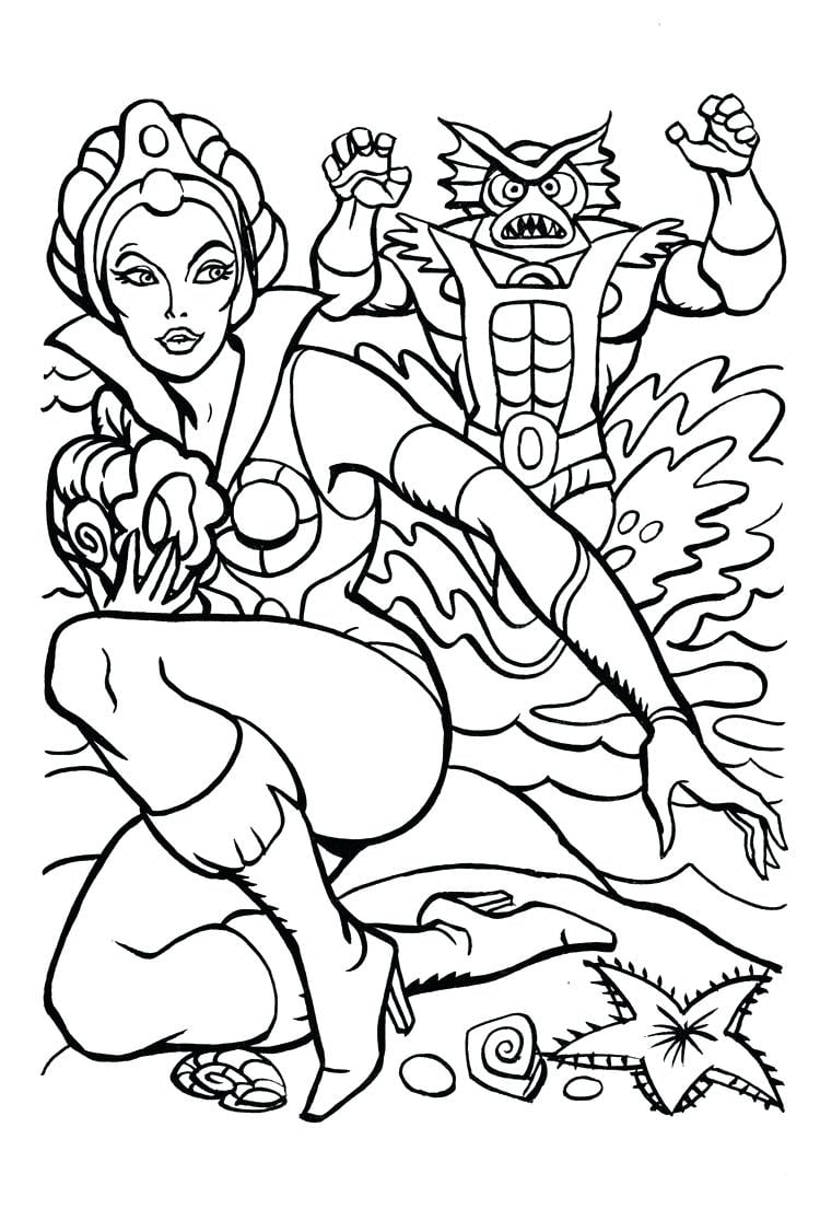 Coloring Page He Man Pages Book 4 Attacks Pixels Pacman And
