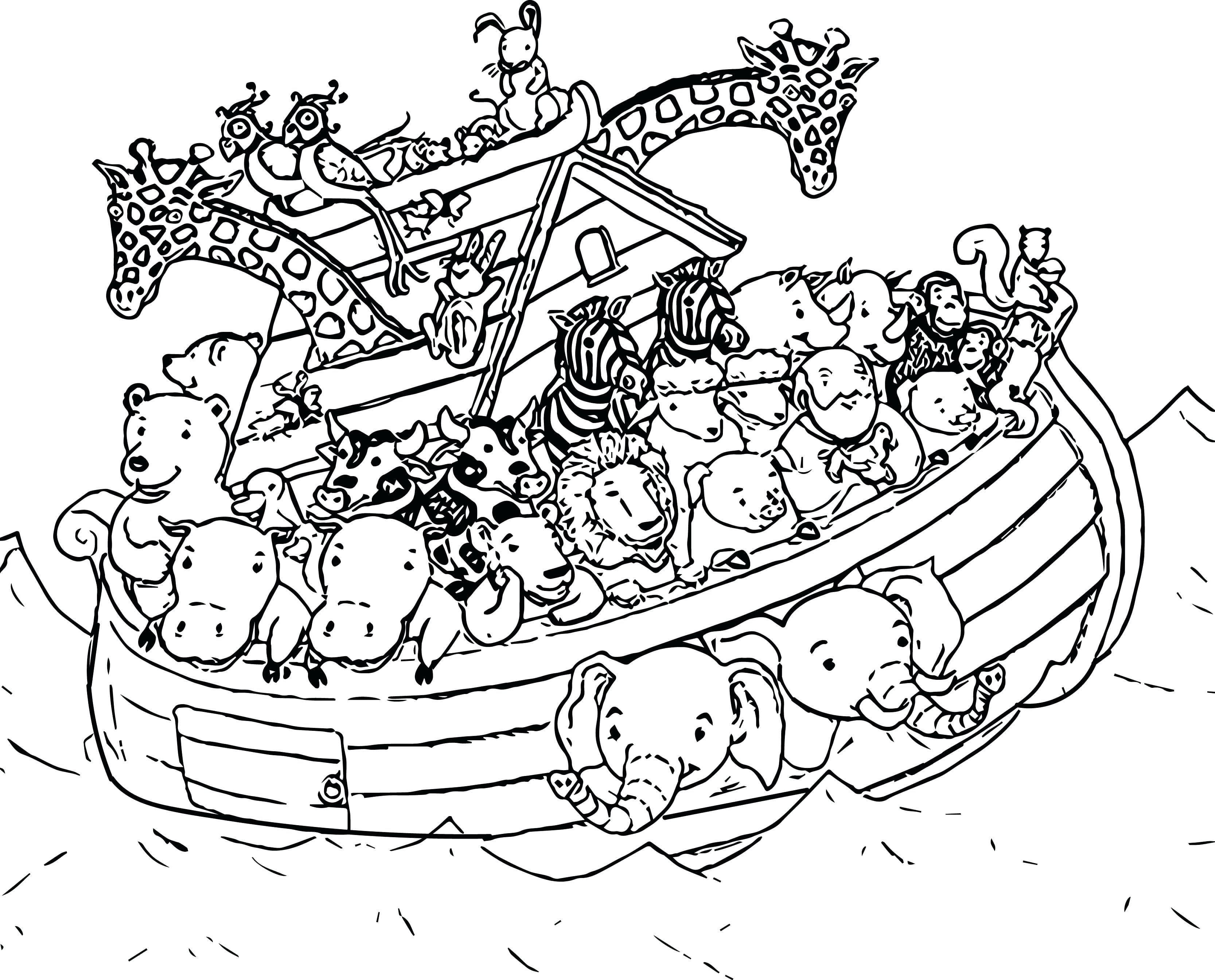 Noah And The Ark Coloring Page Fresh Informative Noahs New