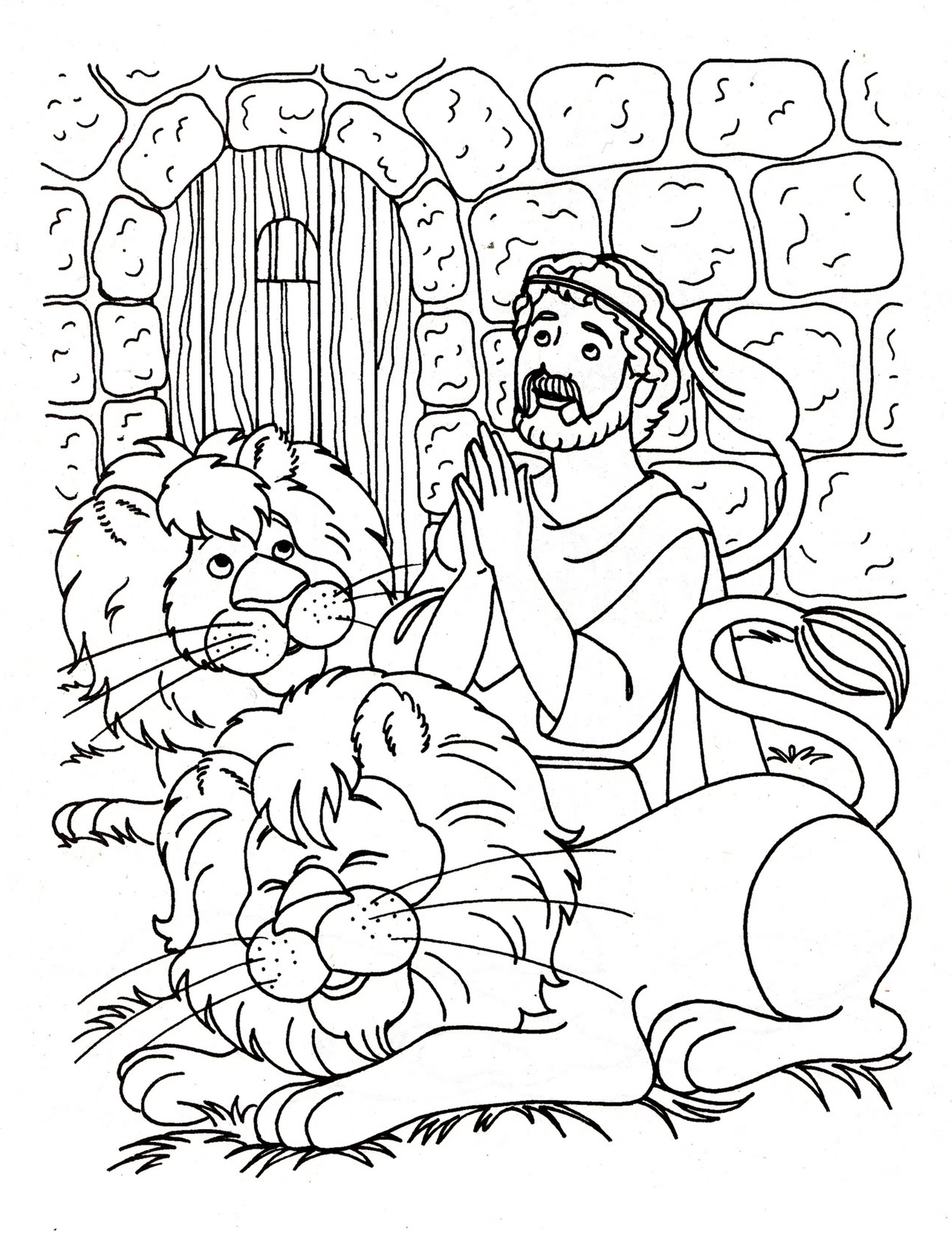 Daniel Coloring Pages For And The Lions Den At Bloodbrothers Me In