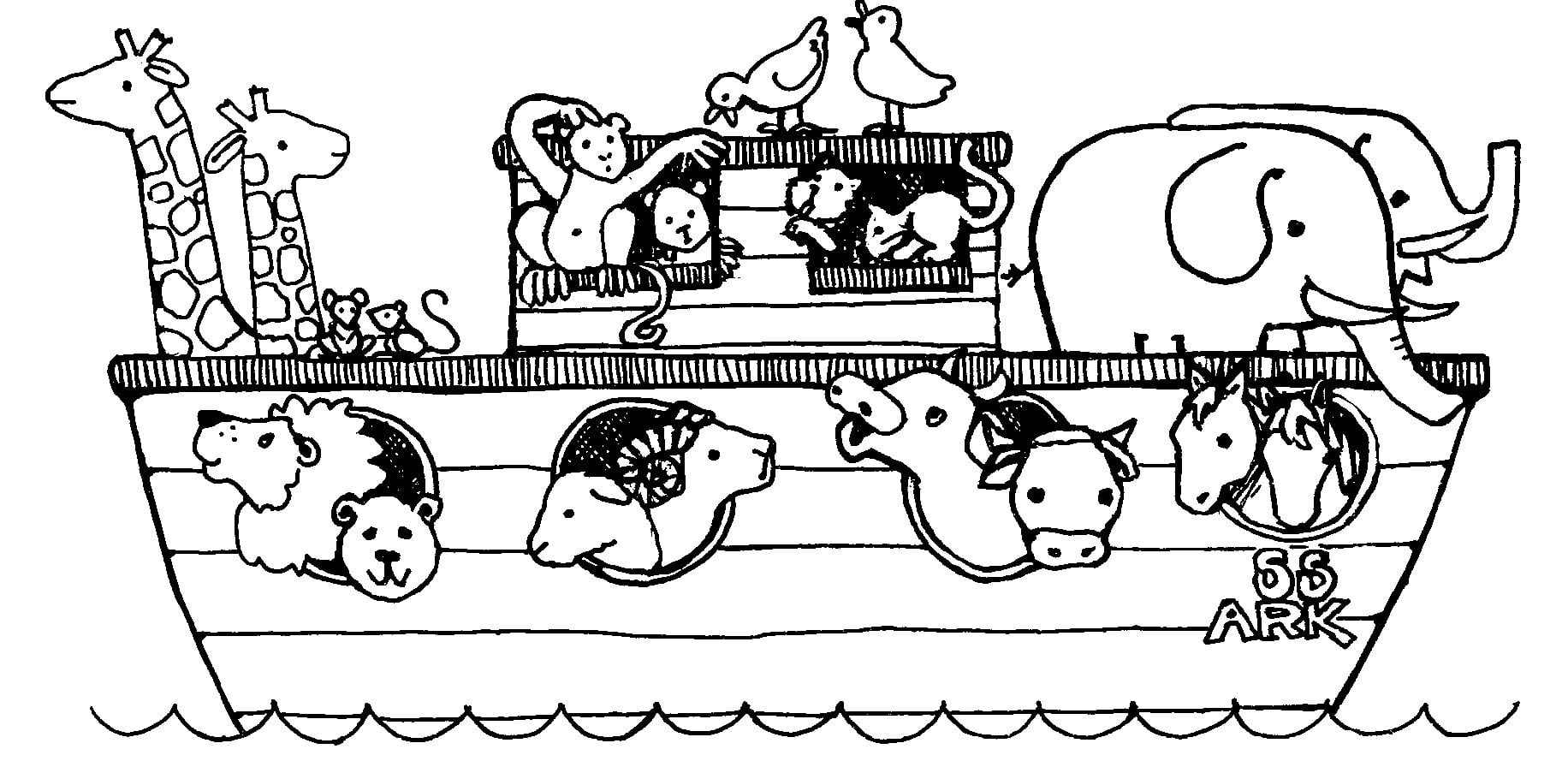 Free Noah's Ark Coloring Pages