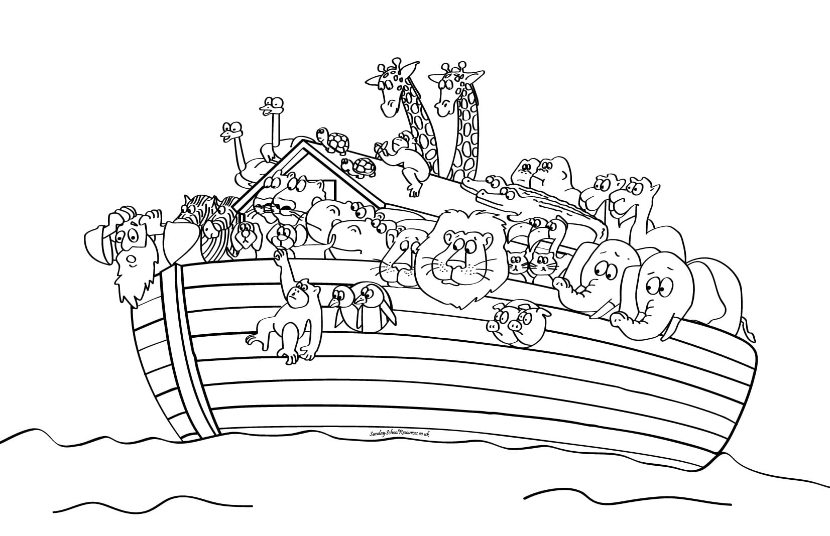 Free Noah Ark Coloring Pages Beautiful Noah Ark Coloring Pages
