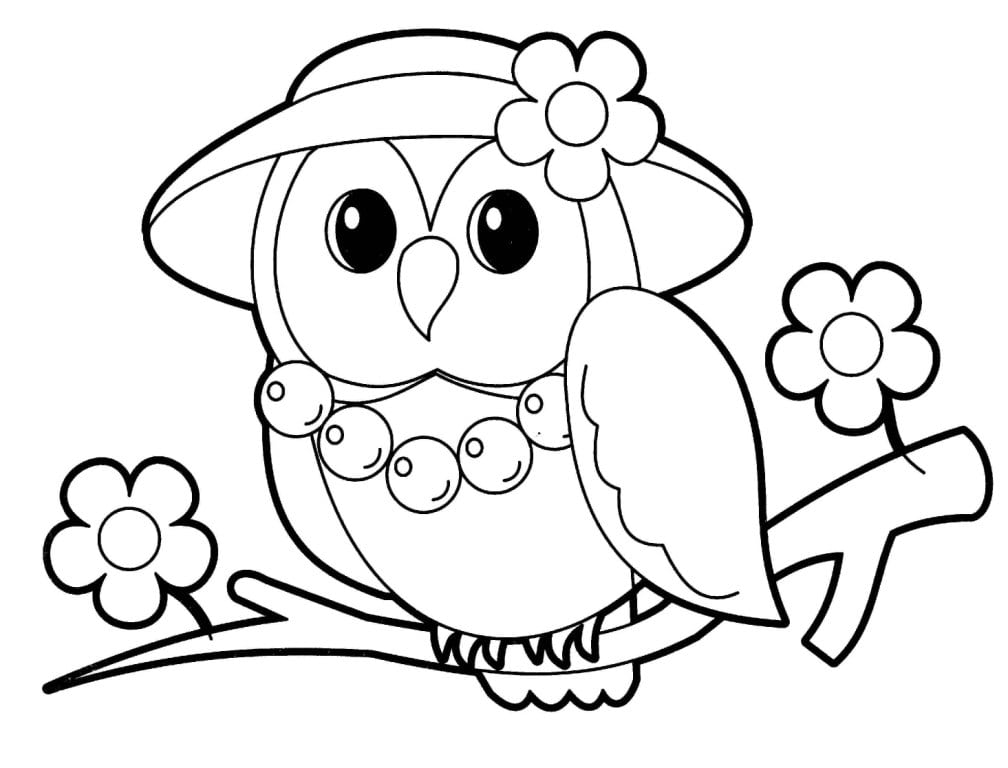 Competitive Owl Picture To Color Owls Coloring Pages Free  5428