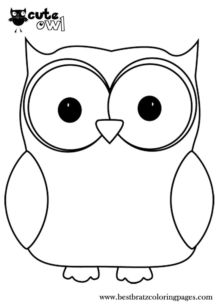 Miracle Owl Picture To Color Coloring Page Of An Cute Pages  5423