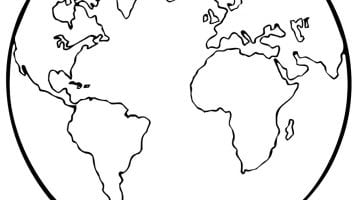 Earth Coloring Sheets