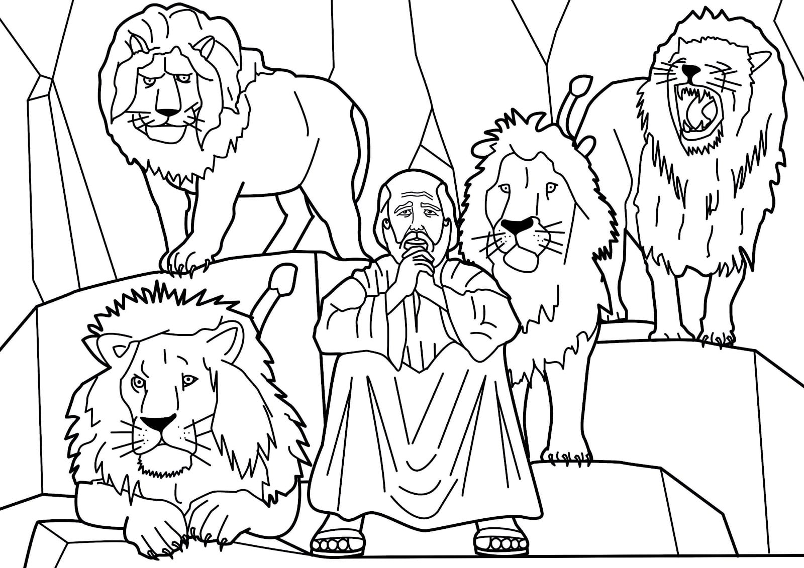 Portfolio Daniel And The Lions Den Coloring Page Within Glum Me 4
