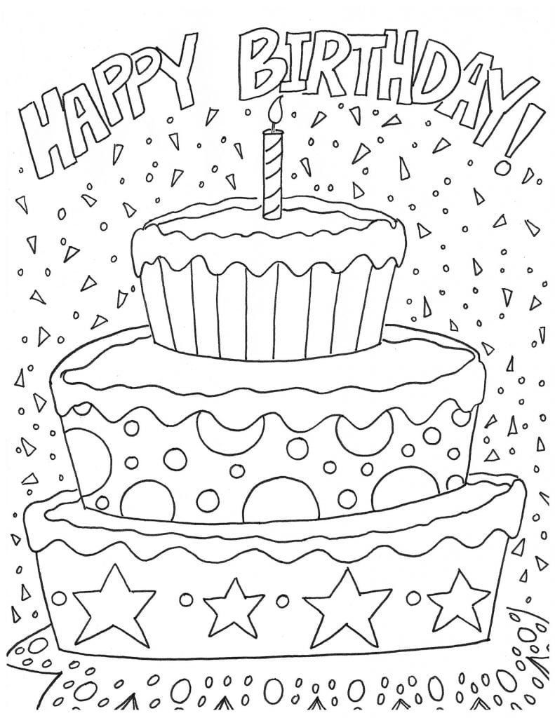 Happy Birthday Coloring Pages - NEO Coloring