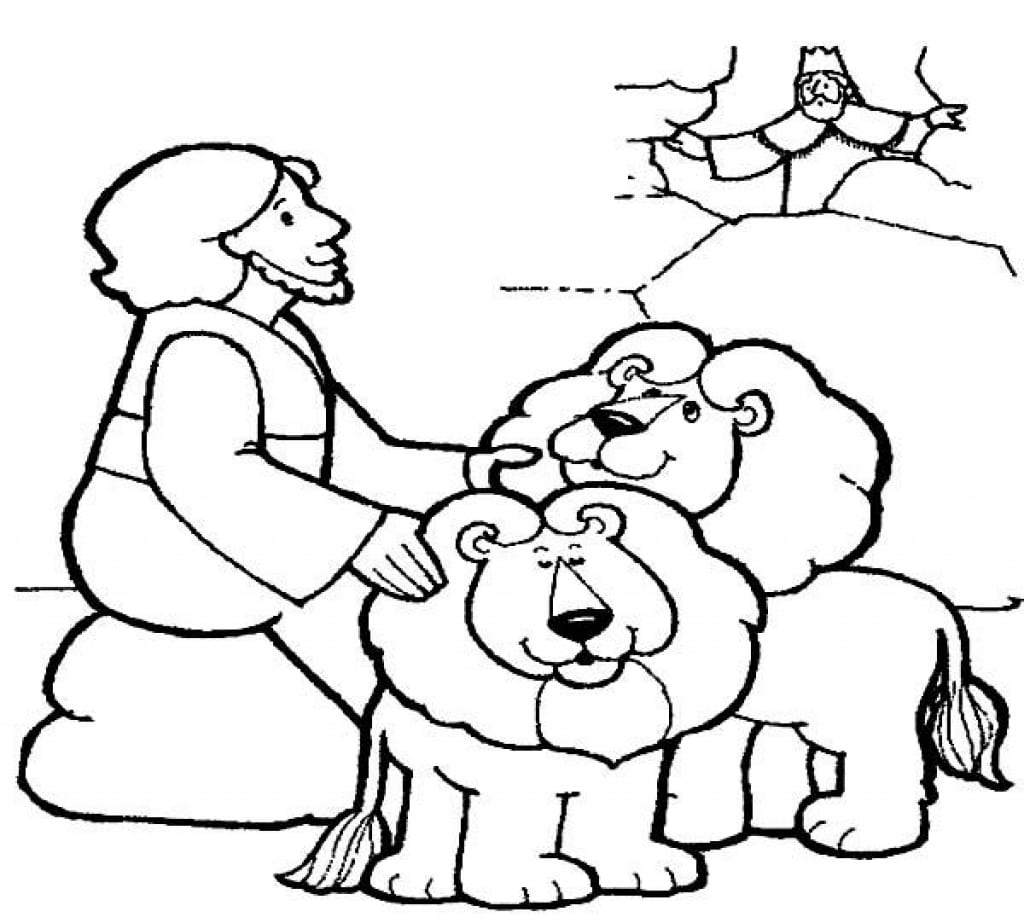 Special Daniel And The Lions Den Coloring Page Useful Of In Lion