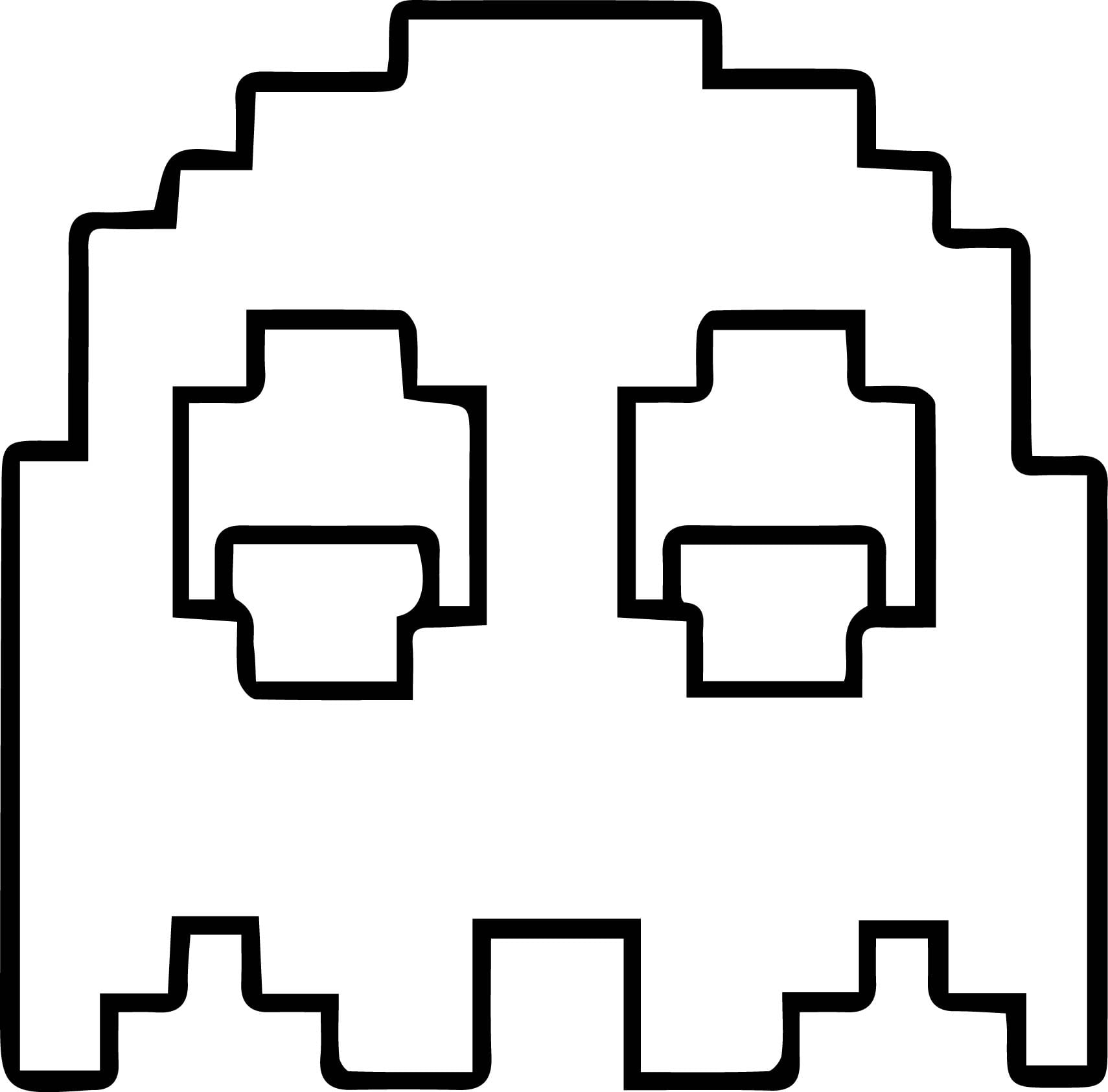 Startling Pac Man Coloring Pages To Print Pers  14341