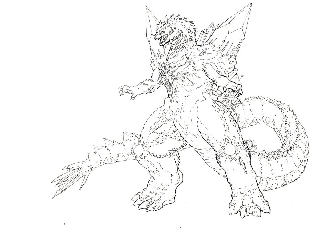 Cool Baby Godzilla Coloring Page Pages For All Ages Online