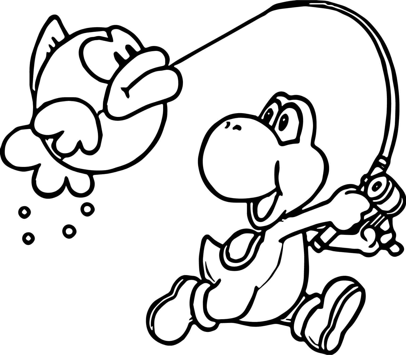 Yoshi Coloring Pages Bloodbrothers Me Ribsvigyapan Com Noticeable