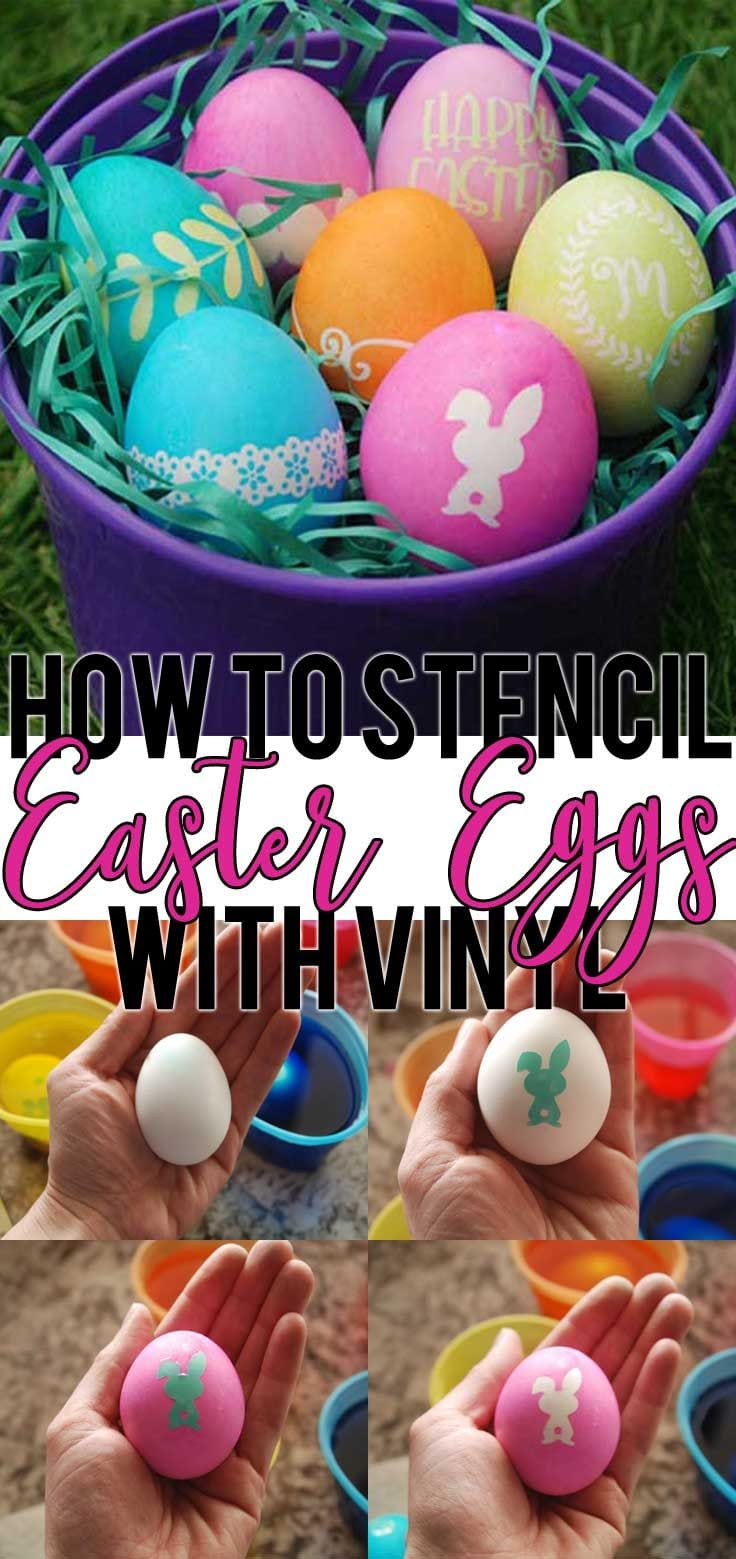 How To Stencil Easter Eggs With Vinyl And Free Easter Svg File