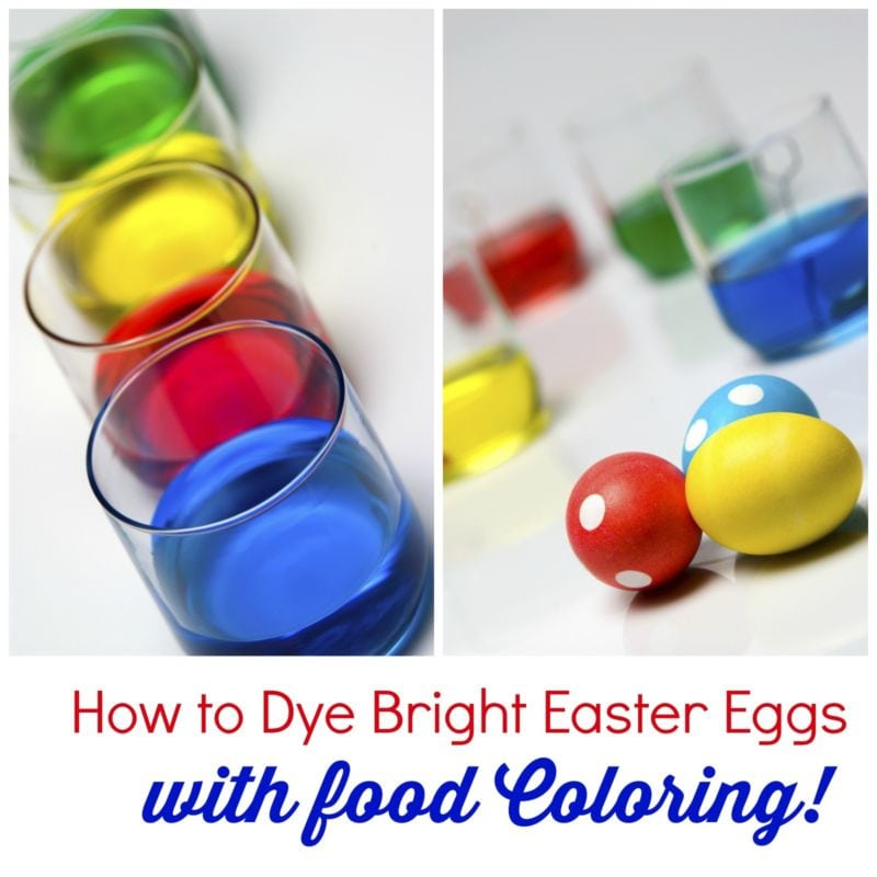 How To Dye Bright Easter Eggs With Food Coloring How To Dye Bright