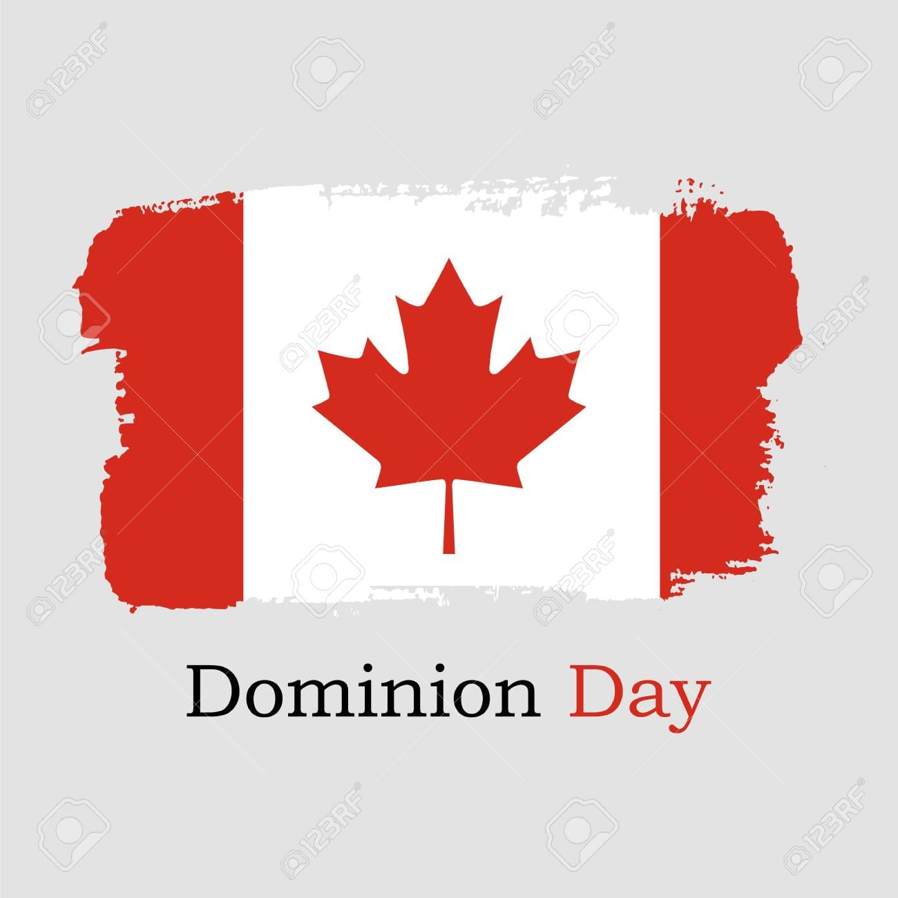 Vector Illustration  Hand Draw Canada Flag  National Canada Banner