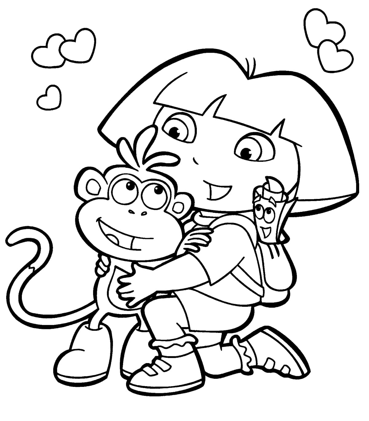 28+ Collection Of Printable Dora Coloring Pages