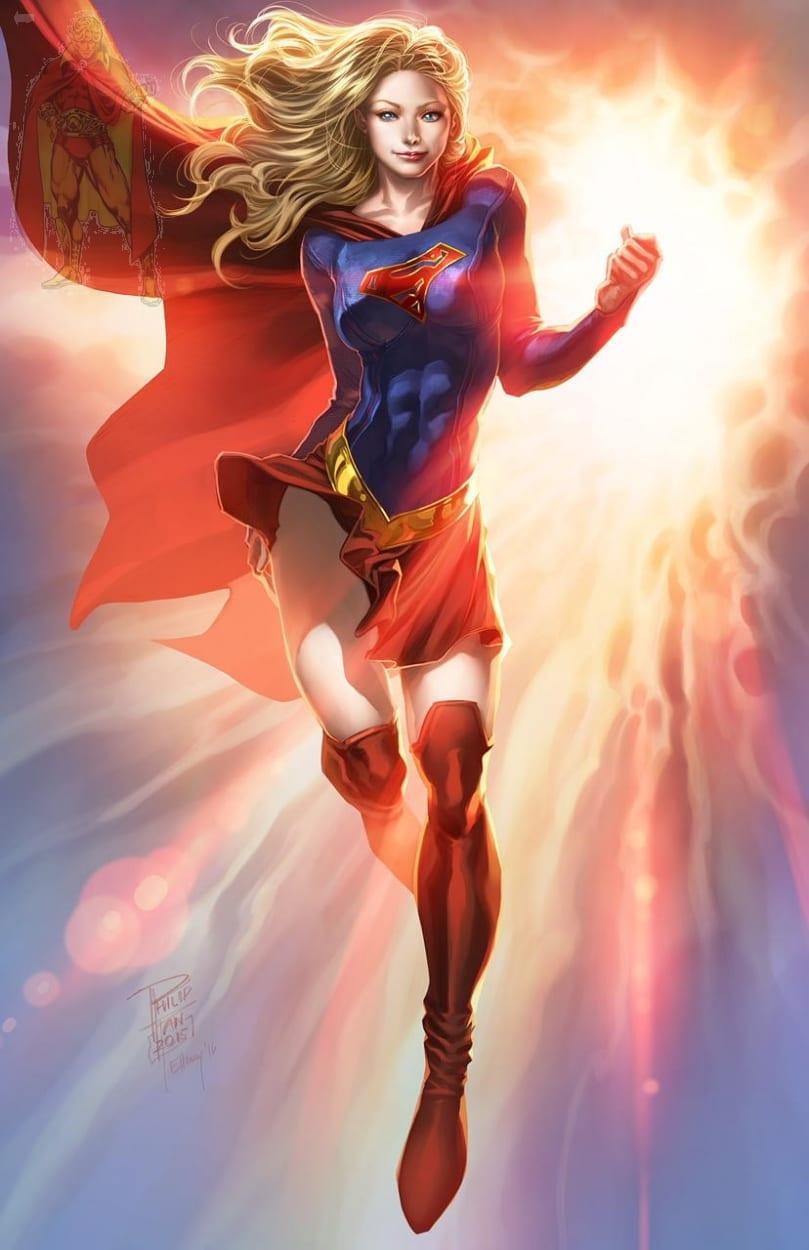 Philip Tan Print Of Supergirl , In Kirk Dilbeck's 3