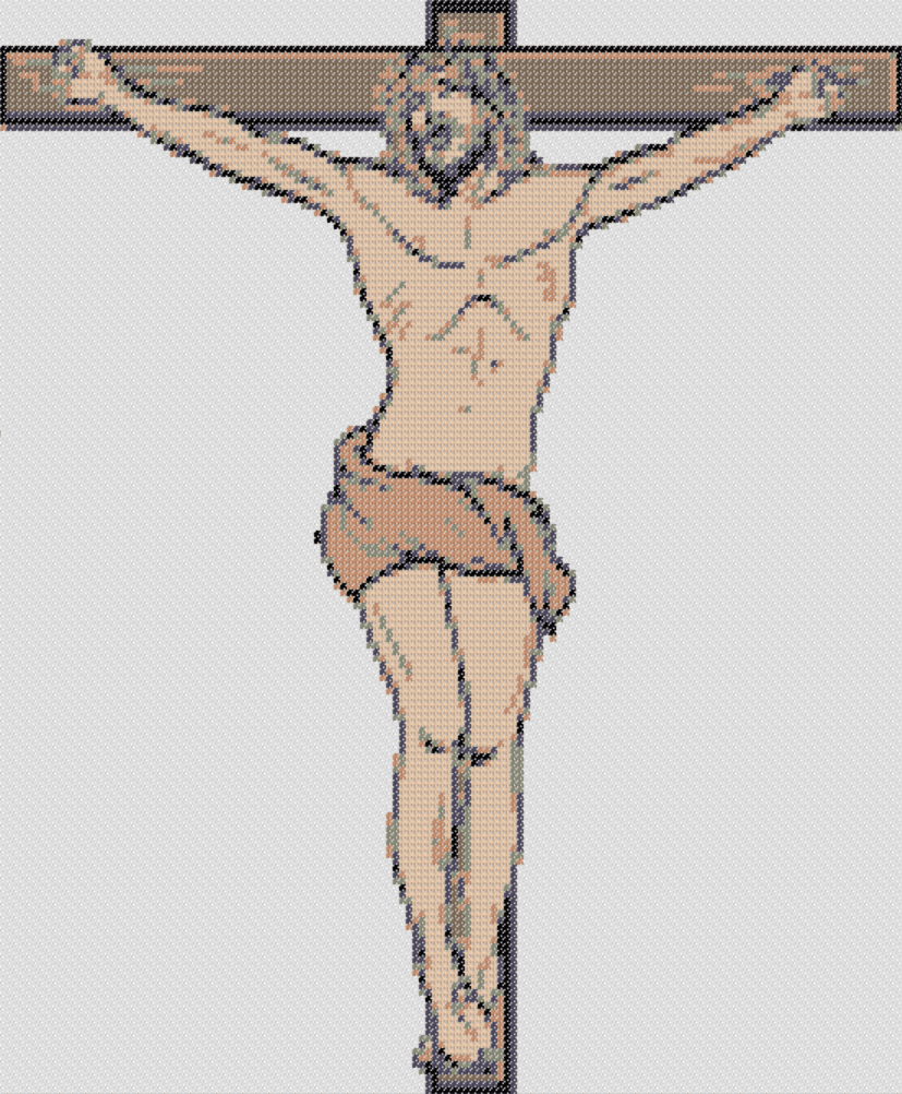 Free Printable Jesus Crucified Stitching Chart At Cross Stitch 4 Free