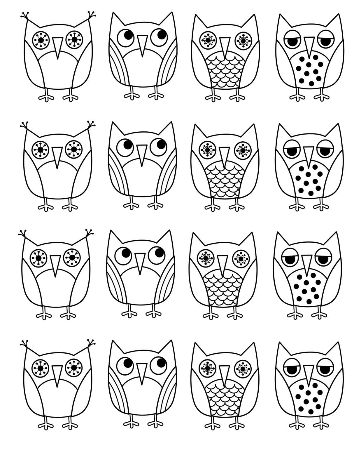 Free Printable Owl Coloring Pages Nice