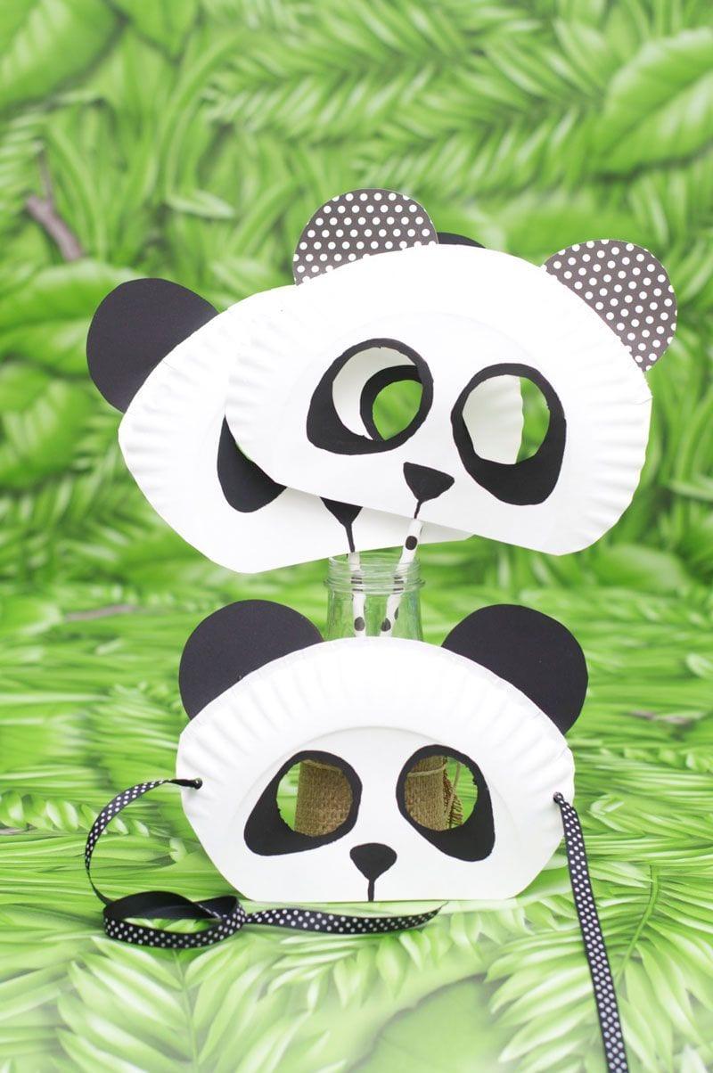 Paper Plate Panda Bear Mask For Kids!  Animalcraft  Preschool