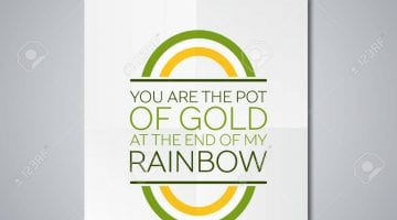 Rainbow And Pot Of Gold Template