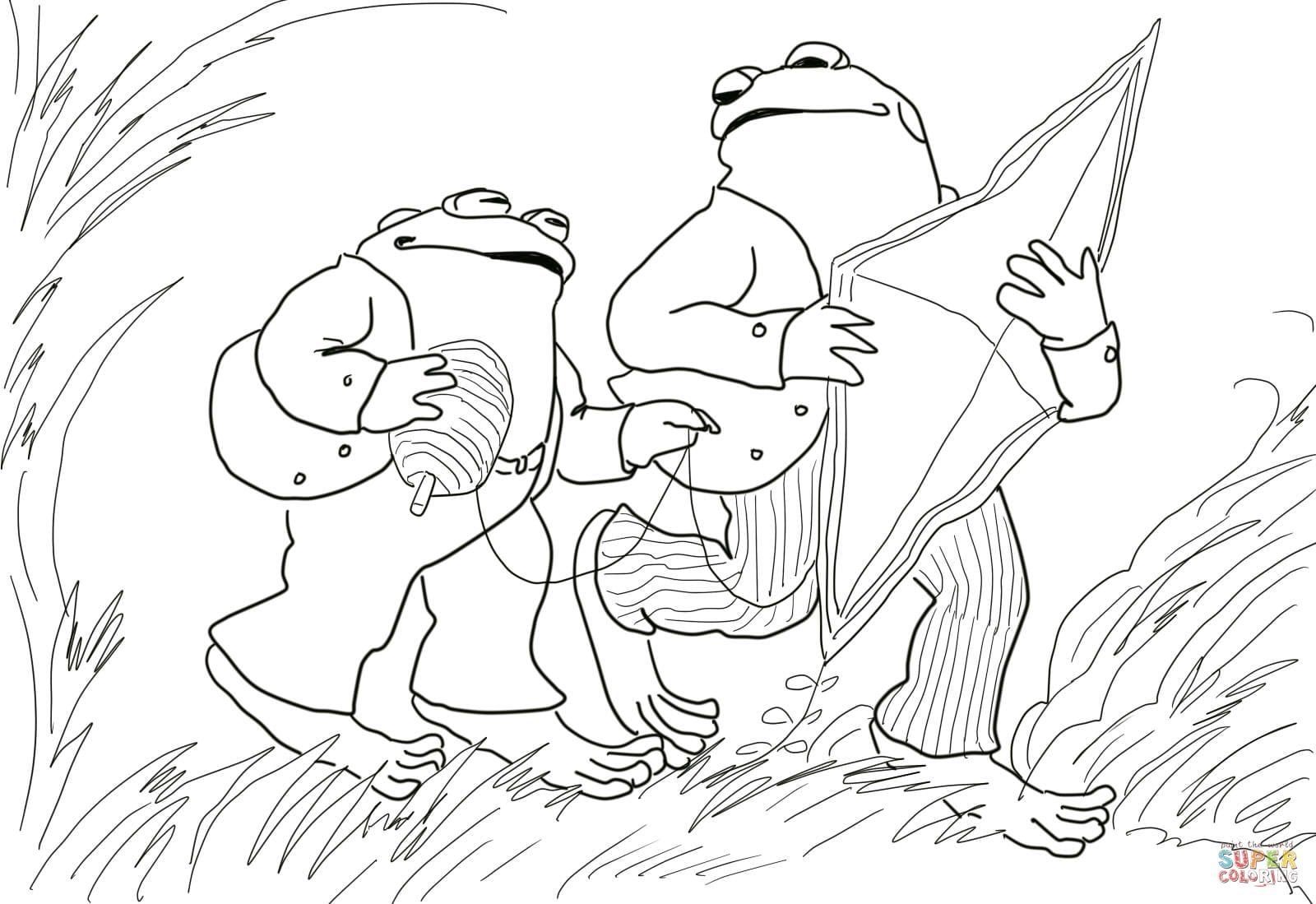 Frog And Toad Coloring Pages