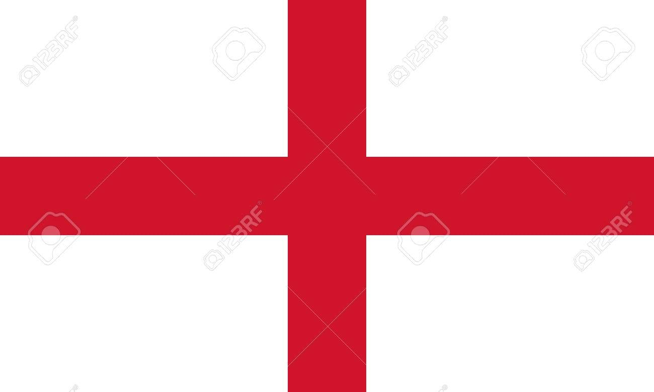 English Flag, Cross Of St  George, In Correct Proportions And