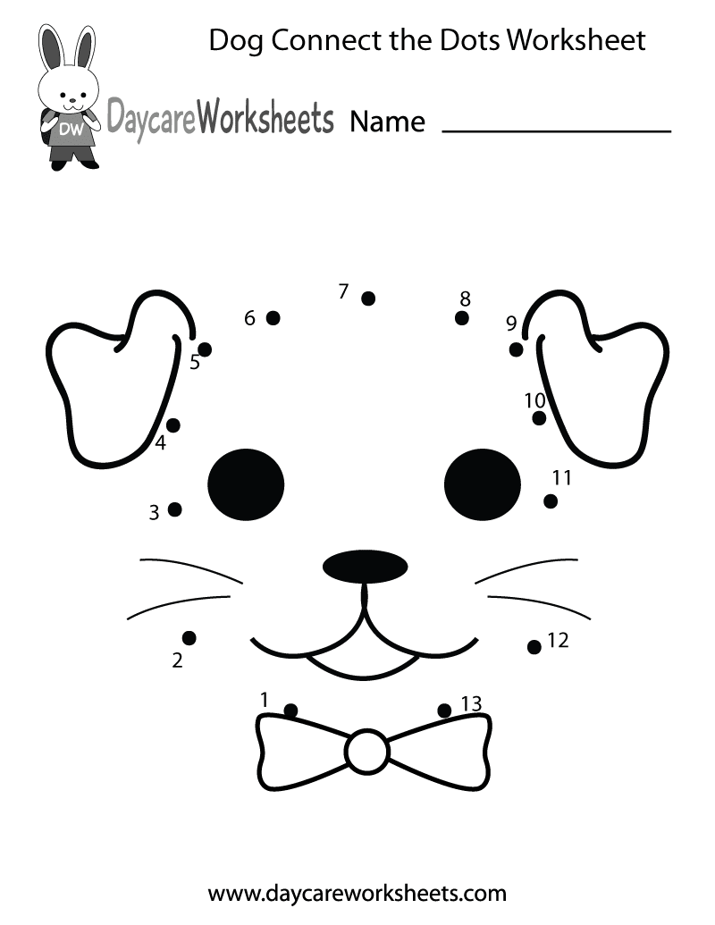 Preschoolers Can Connect The Dots To Make A Dog In This Free