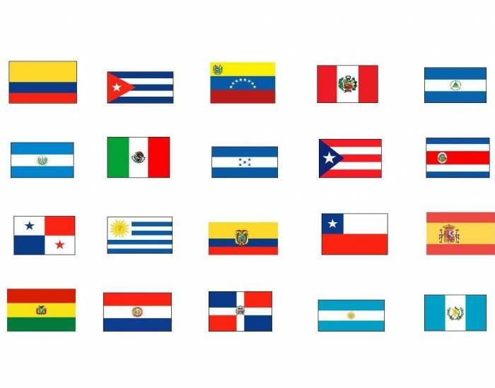Spanish Speaking Countries Flags Banner Images