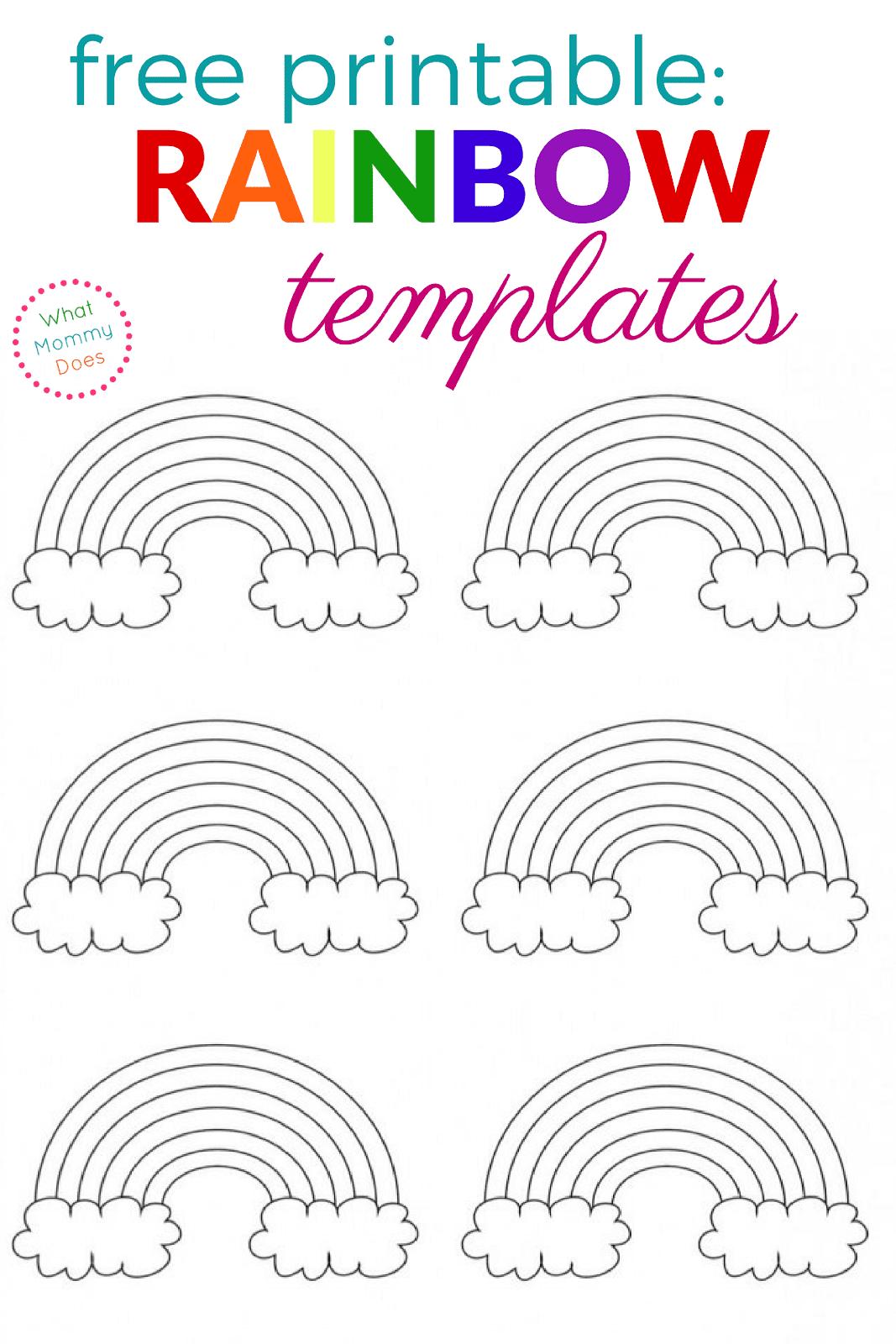 Free Printable Rainbow Templates